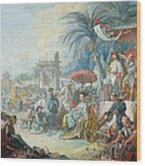 The Chinese Fair, C.1742 Oil On Canvas Wood Print