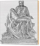 The Christ Wood Print