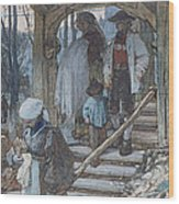 The Christening Gate In Lausanne, C.1861 Wood Print