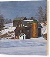The Christmas Barn Wood Print