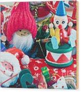 The Christmas Clown II Wood Print