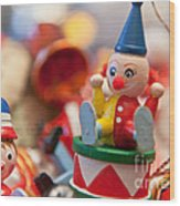 The Christmas Clown  Wood Print