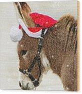 The Christmas Donkey Wood Print
