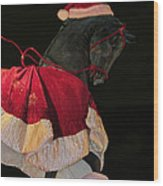 The Christmas Horse Wood Print