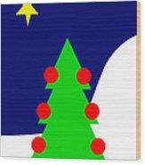 The Christmas Star Wood Print