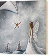 The Christmas Star Original Artwork Wood Print