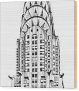 The Chrysler Building Wood Print by Luciano Mortula