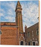 The Church Of Saint Martin Wood Print by Peter Tellone