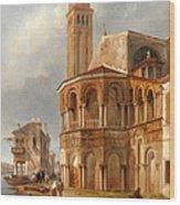 The Church Of Santa Maria E San Donato In Murano Wood Print