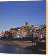 The Church Of St Mary's And Whitby Abbey North Yorkshire England Wood Print