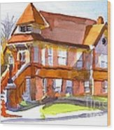 The Church On Shepherd Street 3 Wood Print by Kip DeVore