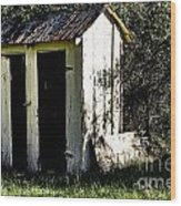 The Church Outhouse Wood Print