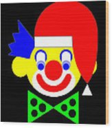 The Circus Clown wishes you a Merry Christmas Wood Print