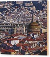 The City From Parc Du Chateau Castle Wood Print