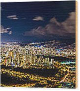 The City Of Aloha Wood Print