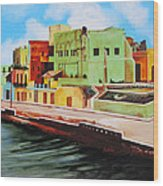 The City Of Matanzas In Cuba Wood Print