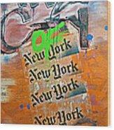 The City Of New York Wood Print