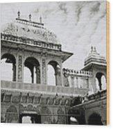 The City Palace Udaipur Wood Print