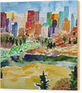 The City Skyline Wood Print