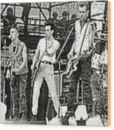 The Clash 1982 Wood Print by Chuck Spang