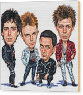 The Clash Wood Print
