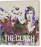 The Clash Portrait Wood Print