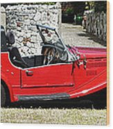 The Classic Red Convertible  Wood Print