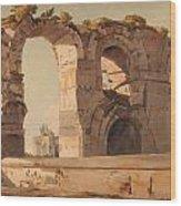 The Claudian Aquaduct Rome Wood Print