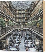 The Cleveland Arcade Wood Print