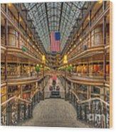 The Cleveland Arcade V Wood Print