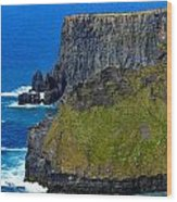 The Cliffs Of Moher In Ireland Wood Print