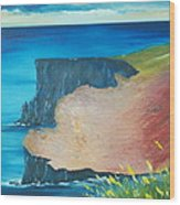 The Cliffs Of Moher Ireland Wood Print
