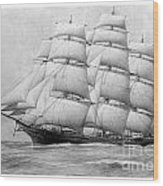 The Clippership Taeping Under Full Sail Wood Print