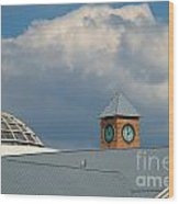 The Clock And The Dome Wood Print