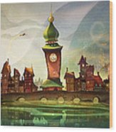 The Clock Tower Wood Print