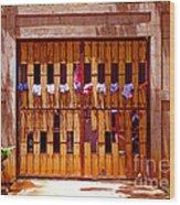The Clothes Door Wood Print