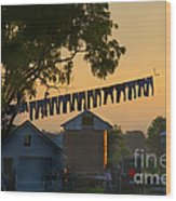 The Clothes Line Wood Print
