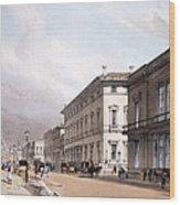 The Club Houses, Pall Mall, 1842 Wood Print by Thomas Shotter Boys