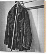 The Coat And The Cane Wood Print