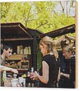 The Coffee Cart Wood Print