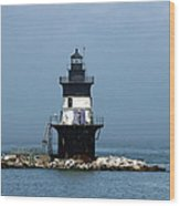 The Coffee Pot Lighthouse Wood Print