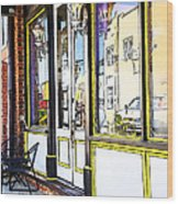 The Coffee Shop Wood Print by Jim  Calarese