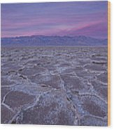 The Color Of Badwater Wood Print by Tony Santo
