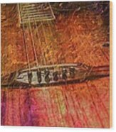 The Color Of Music Digital Guitar Art By Steven Langston Wood Print by Steven Lebron Langston