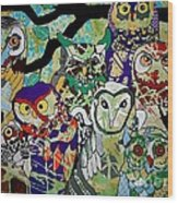 The Color Of Owls Wood Print