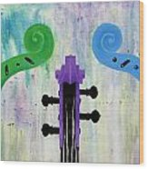 The Colors Of Music Wood Print