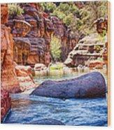 The Colors Of Oak Creek Wood Print