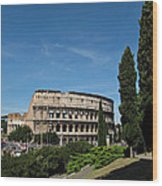 The Colosseum In Rome Wood Print