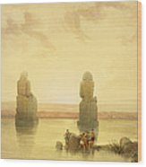 The Colossi Of Memnon Wood Print by David Roberts