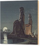 The Colossi Of Memnon, Thebes, One Wood Print
